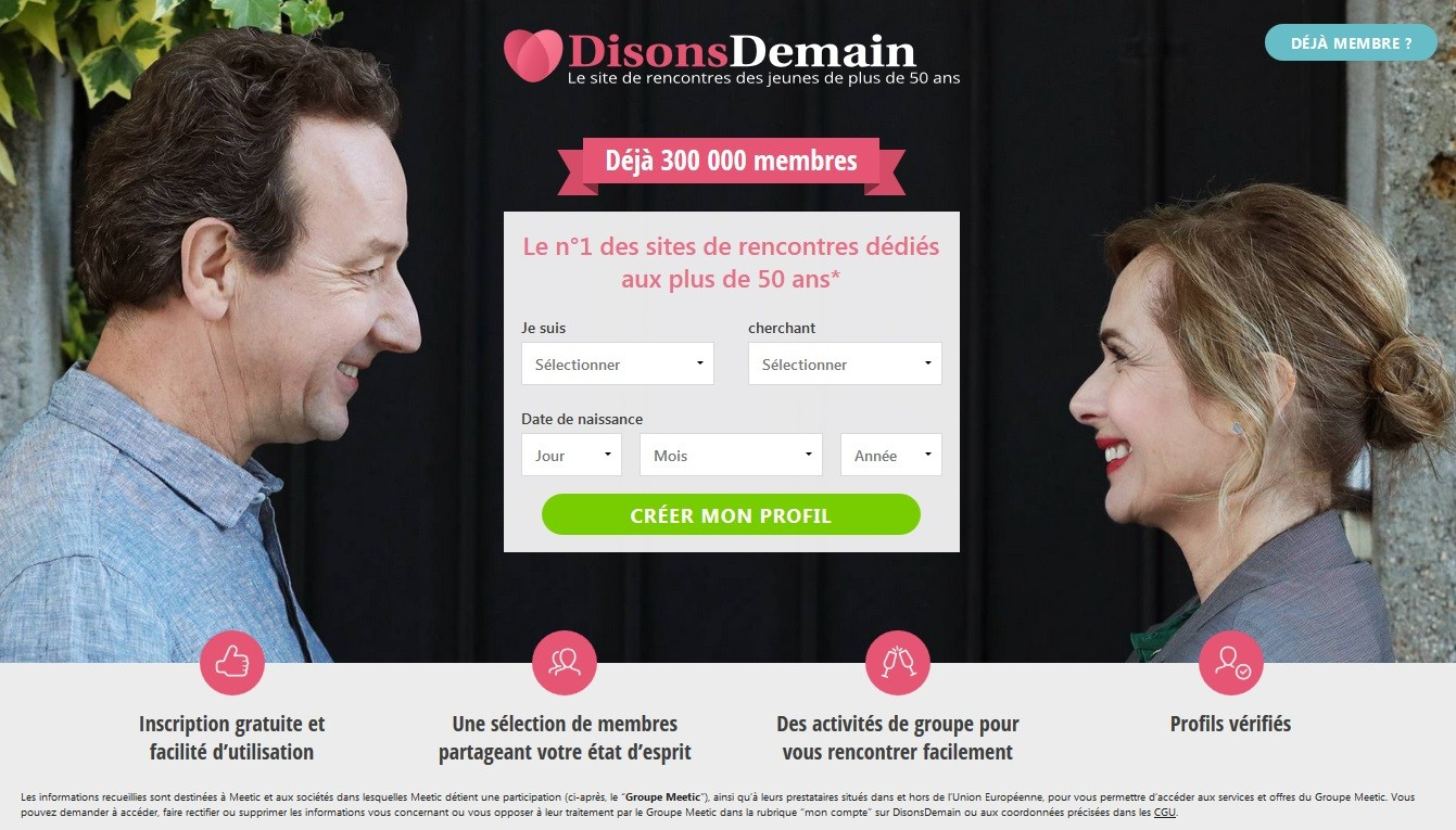 DisonsDemain accueil interface