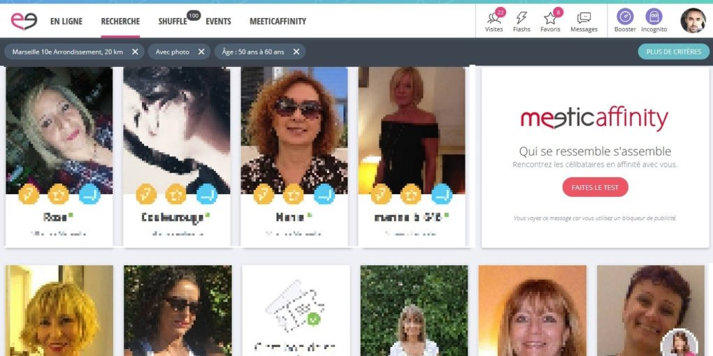 Meetic membres en ligne