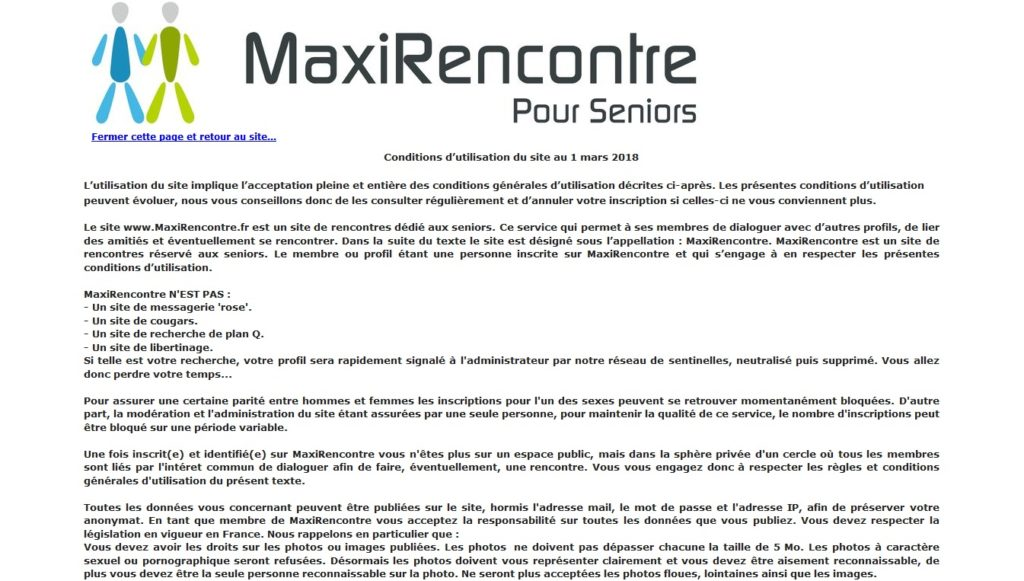 MaxiRencontre cgu